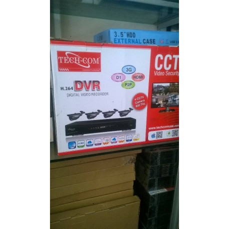 DVR + 4 caméras (IP Ethernet)